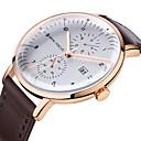 preiswerte Uhren Herren-MINI FOCUS Herrn Uhr Armbanduhren für den Alltag Japanisch Quartz Echtes Leder Schwarz / Braun Kalender Armbanduhren für den Alltag Cool Analog Modisch Weiß Schwarz Braun