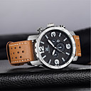 cheap Men's Watches-Men's Quartz Fashion Watch Chinese Calendar / date / day Large Dial Casual Watch Genuine Leather Band Luxury Fashion Black Brown