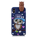 cheap iPhone Cases-Case For Apple iPhone X / iPhone 8 Plus Pattern Back Cover Owl Soft TPU for iPhone X / iPhone 8 Plus / iPhone 8