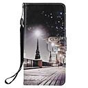 economico Custodie / cover per Galaxy serie S-Custodia Per Samsung Galaxy S9 Plus / S9 A portafoglio / Porta-carte di credito / Con supporto Integrale Vista della città Resistente pelle sintetica per S9 / S9 Plus / S8 Plus