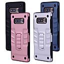 رخيصةأون إكسسوارات سامسونج-غطاء من أجل Samsung Galaxy Note 8 ضد الصدمات / مع حامل غطاء خلفي لون سادة قاسي الكمبيوتر الشخصي