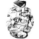 رخيصةأون ساعات النساء-رجالي أناقة الشارع / النمط الصيني بنطلون - هندسي / 3D أبيض / مع قبعة / كم طويل / الخريف