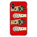 رخيصةأون أغطية أيفون-غطاء من أجل Apple iPhone X / iPhone 8 Plus / iPhone 8 نموذج غطاء خلفي حيوان / كارتون ناعم TPU