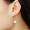 저렴한 귀걸이-여성용 드랍 귀걸이 귀걸이 꽃장식 숙녀 단순한 단 보석류 핑크 제품 선물 일상