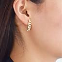 tanie Kolczyki-Kolczyki wiszące - Leaf Shape Modny Gold / Silver / Różowe złoto Na Codzienny / Randka