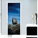 رخيصةأون ملصقات ديكور-جدار ملصق مائي لواصق حائط مزخرفة ملصقات الباب - لواصق مناظر طبيعية 3D قابل اعادة الوضع قابل للنقل