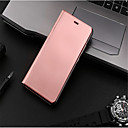 cheap Switches-Case For Huawei P10 Lite P10 with Stand Plating Mirror Flip Auto Sleep/Wake Up Full Body Cases Solid Color Hard PU Leather for P10 Plus