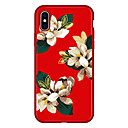 preiswerte iPhone Hüllen-Hülle Für Apple iPhone X iPhone 8 Plus Muster Rückseite Blume Cartoon Design Weich Echtleder für iPhone X iPhone 8 Plus iPhone 8 iPhone 7