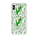 cheap iPhone Cases-Case For Apple iPhone X / iPhone 8 Plus Pattern Back Cover Plants / Flower Soft TPU for iPhone X / iPhone 8 Plus / iPhone 8