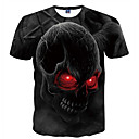 cheap Men's Tees & Tank Tops-Men's Club Basic T-shirt - Skull Print Round Neck / Short Sleeve / Summer