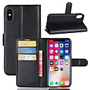cheap iPhone Cases-Case For Apple iPhone X iPhone 8 Plus Card Holder Wallet with Stand Full Body Cases Solid Colored Hard PU Leather for iPhone X iPhone 8