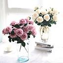 رخيصةأون أزهار اصطناعية-زهور اصطناعية 1 فرع Wedding Flowers النمط الرعوي الورود أزهار الطاولة