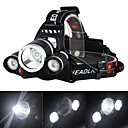 cheap Bike Lights-Headlamps Headlight LED Cree® XM-L T6 3 Emitters 3000 lm 4 Mode with Charger Rechargeable Strike Bezel Camping / Hiking / Caving Traveling