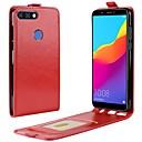 رخيصةأون Huawei أغطية / كفرات-غطاء من أجل Huawei Honor 9 / Huawei Honor 9 Lite / Honor 7X حامل البطاقات / قلب غطاء كامل للجسم لون سادة قاسي جلد PU