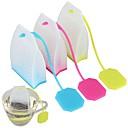 hesapli Çay Takımları-Silikon Tatlı / Yaratıcı Mutfak Gadget çanta 1pc Kahve ve Çay / Çay Süzgeci