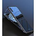 Χαμηλού Κόστους Θήκες iPhone-tok Για Apple iPhone X / iPhone 8 / iPhone 8 Plus Ανθεκτική σε πτώσεις / Μαγνητική Πίσω Κάλυμμα Μονόχρωμο Σκληρή Ψημένο γυαλί / Αλουμίνιο