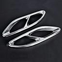 저렴한 자동차 스티커-2pcs 20mm 배출 꼬리 파이프 팁 굽은 메탈 배기통 For Mercedes-Benz E300L / E200L / E260L 2,018 / 2,017 / 2016