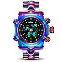 Недорогие Мужские часы-Муж. Спортивные часы 30 m Защита от влаги Календарь сплав Группа Аналого-цифровые Роскошь Мода Белый / Фиолетовый - Белый Лиловый