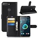 hesapli HTC İçin Kılıflar / Kapaklar-Pouzdro Uyumluluk HTC U11 / HTC Desire 12 Cüzdan / Kart Tutucu / Flip Tam Kaplama Kılıf Solid Sert PU Deri için HTC U11 plus / HTC U11