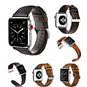 abordables Bracelets Apple Watch-Bracelet de Montre  pour Apple Watch Series 4/3/2/1 Apple Boucle Classique Vrai Cuir Sangle de Poignet