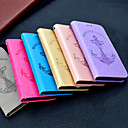 baratos Capinhas para Galaxy Série S-Capinha Para Samsung Galaxy S9 Plus / S9 Carteira / Porta-Cartão / Flip Capa Proteção Completa Sólido / Palavra / Frase Rígida PU Leather