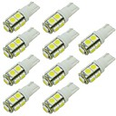 cheap Flashlights-2W LED Bulb T10 W5W 9 SMD 5050 DC 12 - 24V White Warm White for RV Reading Parking Clearance Lamp (10 Pcs)