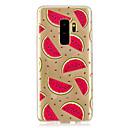 billige Etuier / covers til Galaxy S-modellerne-Etui Til Samsung Galaxy S9 Plus / S9 Transparent / Mønster Bagcover Frugt Blødt TPU for S9 / S9 Plus / S8 Plus