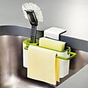 Недорогие Всё для хранения на кухне-Кухонная организация Полки и держатели Пластик Новый дизайн / Аксессуар для хранения / Прост в применении 1шт