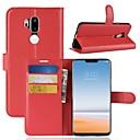 hesapli LG İçin Kılıflar / Kapaklar-Pouzdro Uyumluluk LG K10 2018 / G7 Cüzdan / Kart Tutucu / Flip Tam Kaplama Kılıf Solid Sert PU Deri için LG X venture / LG V30 / LG V20 / LG G6