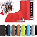 cheap iPad  Cases / Covers-Case For Apple iPad (2018) / iPad (2017) Flip / Magnetic / Origami Full Body Cases Solid Colored Hard PU Leather for iPad (2018) / iPad