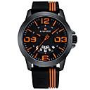رخيصةأون Huawei أغطية / كفرات-رجالي ساعة رياضية ياباني سيليكون الأبيض / أحمر / البرتقال 30 m مقاوم للماء الكرونوغراف مماثل كاجوال موضة - أصفر فوشيا كاكي سنتان عمر البطارية / ستانلس ستيل
