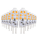 abordables LED à Double Broches-YWXLIGHT® 10pcs 3W 200-300lm G4 LED à Double Broches T 12 Perles LED SMD 2835 Blanc Chaud / Blanc Froid / Blanc Naturel 12V