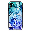 رخيصةأون أغطية أيفون-غطاء من أجل Apple iPhone X / iPhone 8 Plus / iPhone 8 نموذج غطاء خلفي نموذج هندسي قاسي زجاج مقوى