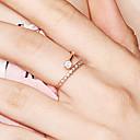 olcso Sütőeszközök és kütyük-Női Gyémánt Kocka cirkónia Nyissa meg a gyűrűt S925 ezüst Virágos / Botanikus Virág Kecses hölgyek Divatos gyűrű Ékszerek Vörös arany Kompatibilitás Estély Kezdő 8