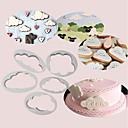 preiswerte Backzubehör & Geräte-5 stücke flauschige wolken cutter kuchen dekorieren fondant kekse fondant cutter