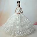 hesapli Barbie Bebek Kıyafetleri-Düğün Elbiseler İçin Barbie Bebek Dantel Saten Elbise İçin Kız Oyuncak bebek