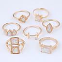 billige Armbånd-Dame Hul Ring Set Legering Anker Damer Usædvanlige Unikt design Europæisk Mode Moderinge Smykker Guld Til Afslappet 7 7pcs