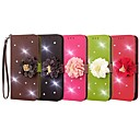 cheap Cases / Covers for Nokia-Case For Nokia Lumia 650 / Lumia 640 XL Wallet / Card Holder / Rhinestone Full Body Cases Solid Colored / Flower Hard PU Leather for Nokia Lumia 640 XL / Nokia Lumia 650 / Nokia Lumia 640