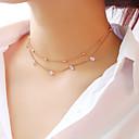 preiswerte Ohrringe-Damen Mehrschichtig Halsketten / Layered Ketten - Stern Modisch, Elegant Gold, Silber 30 cm Modische Halsketten Schmuck 1pc Für Party / Abend, Verlobung, Geschenk