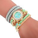 저렴한 안테나 토퍼-Xu™ 여성용 숙녀 팔찌 시계 손목 시계 석영 창조적 캐쥬얼 시계 홀딱 반할 만한 PU 밴드 아날로그 보헤미안 패션 블랙 / 화이트 / 블루 - 레드 그린 블루 1 년 배터리 수명 / 모조 다이아몬드 / 큰 다이얼