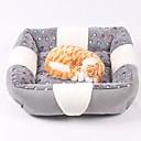 preiswerte CCTV Systeme-Mini / warm halten / Weich Hundebekleidung Betten Plaid / Karomuster / Modisch Grau Hunde / Hasen / Katzen