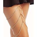 ieftine Mobile Signal Boosters-Pentru femei Bijuterii de corp 45 cm Lănțișor Picior Auriu / Argintiu Line Shape femei / Stilat Ștras / Aliaj Costum de bijuterii Pentru Club / Bikini 13.0*9.0*3.0 cm Vară