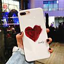 Недорогие Кейсы для iPhone-Кейс для Назначение Apple iPhone X / iPhone 8 Plus IMD / С узором Кейс на заднюю панель С сердцем Мягкий ТПУ для iPhone X / iPhone 8 Pluss / iPhone 8