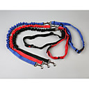 preiswerte Hundehalsbänder, Geschirre & Leinen-Hunde Leinen / Hands Free Leine Tragbar / Atmungsaktiv / Einstellbare Flexible Solide Nylon Schwarz / Rot / Blau