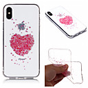 abordables Coques d'iPhone-Coque Pour Apple iPhone X / iPhone 8 Plus IMD / Transparente / Motif Coque Cœur / Fleur Flexible TPU pour iPhone X / iPhone 8 Plus / iPhone 8