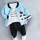 ieftine Seturi de Bijuterii-Bebelus Băieți De Bază Zilnic Mată Manșon Lung Regular Set Îmbrăcăminte Roz Îmbujorat / Copil