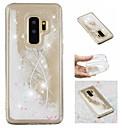 halpa Galaxy S -sarjan kotelot / kuoret-Etui Käyttötarkoitus Samsung Galaxy S9 Plus / S9 Virtaava neste / Kuvio / Kimmeltävä Takakuori Sulat / Kimmeltävä Pehmeä TPU varten S9 / S9 Plus / S8 Plus