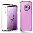 رخيصةأون حافظات / جرابات هواتف جالكسي S-غطاء من أجل Samsung Galaxy S9 / S9 Plus ضد الصدمات / شفاف غطاء خلفي لون سادة قاسي الكمبيوتر الشخصي