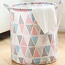 hesapli Banyo ve Kirli Çamaşır Depolama-Pamuk / Polyester Yuvarlak geometrik Desen Ev organizasyon, 1pc Çamaşırlık Torbası ve Sepeti