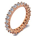 cheap Rings-Women's Stylish Band Ring Ring - Platinum Plated, Rose Gold Plated, Imitation Diamond Blessed, Faith Classic, Trendy, Fashion 5 / 6 / 7 / 8 / 9 Silver / Rose Gold For Gift Birthday